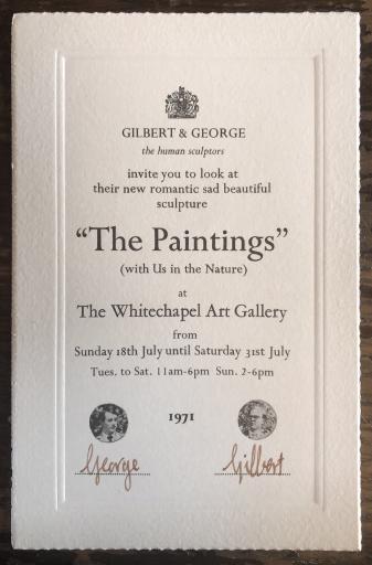 Invitation - Gilbert &George the Human Sculptors